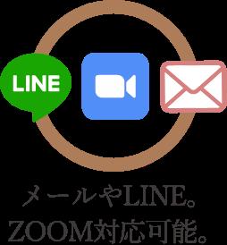 メールやLINE、skype対応可能。